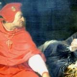 Jeanne d'Arc, malade, est interrogée dans sa prison par le cardinal de Winchester, par Paul DELAROCHE, exposée au Musée des beaux arts de Lyon en 2014