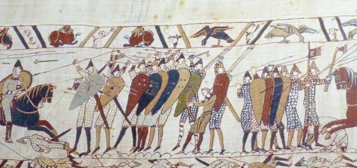 bataille_hastings sur la tapisserie de Bayeux