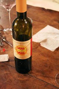 Bouteille de vin rouge normand