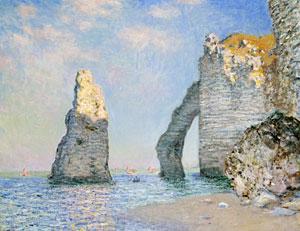 Les falaises d'Étretat par Monet