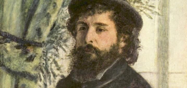 Portrait de Monet. Détail d'un tableau de Pierre-Auguste Renoir (1875 - Musée d'Orsay - Paris).