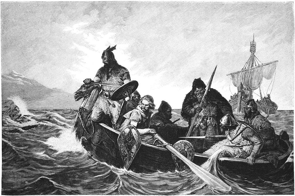 Vikings sur la mer