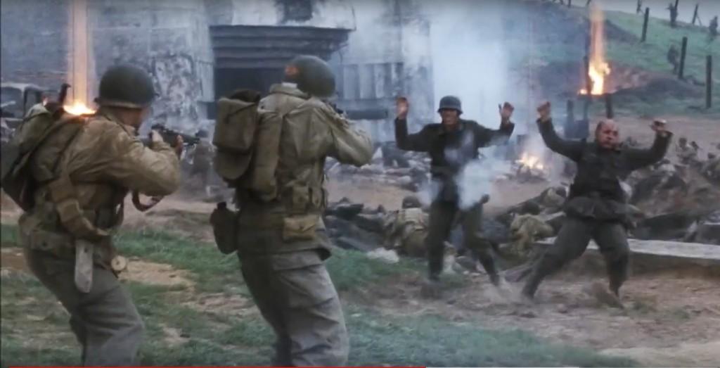 """Scène du film """"Il faut sauver le soldat Ryan""""."""