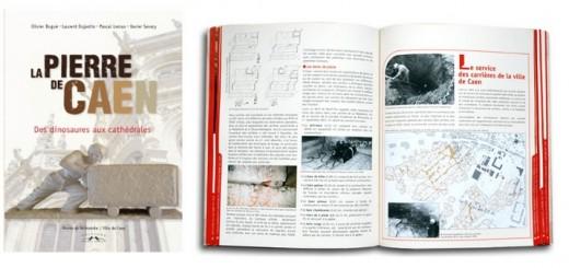 Un livre :  La pierre de Caen. Des dinosaures aux cathédrales