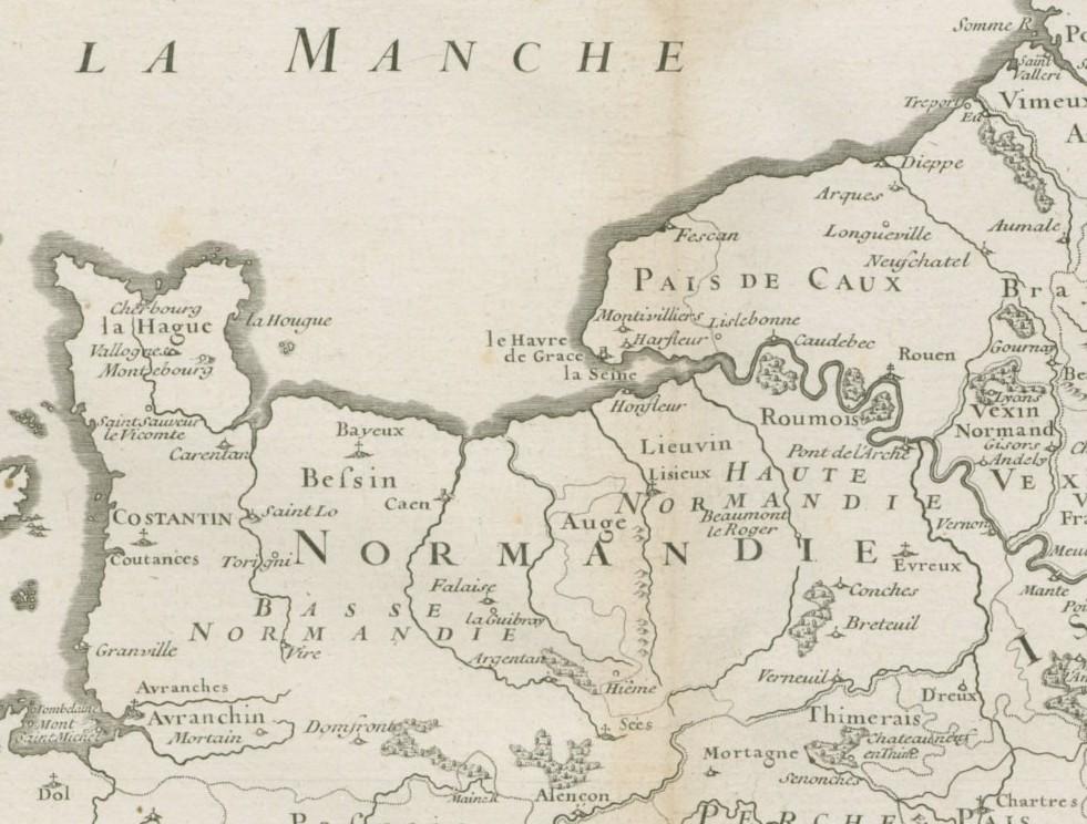 La Basse-Normandie et la Haute-Normandie en 1719
