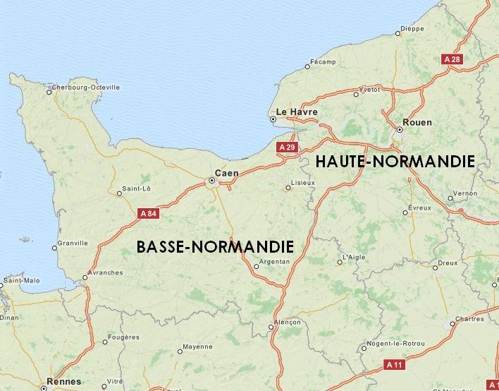 La Basse-Normandie et la Haute-Normandie
