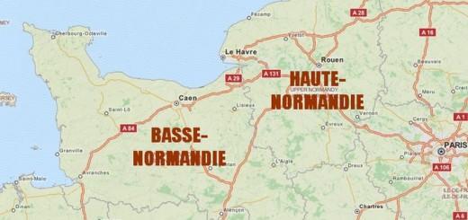 carte basse et haute-Normandie