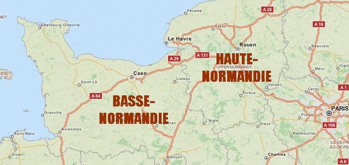basse normandie et haute normandie une division ancienne