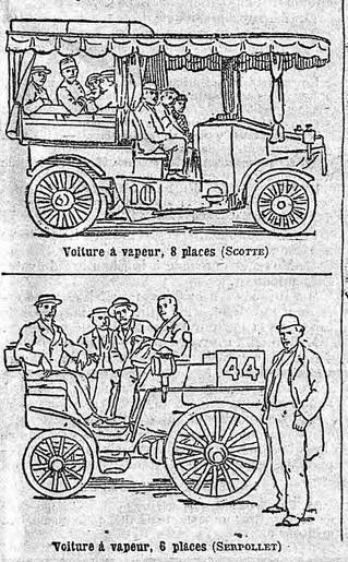 Premières voitures