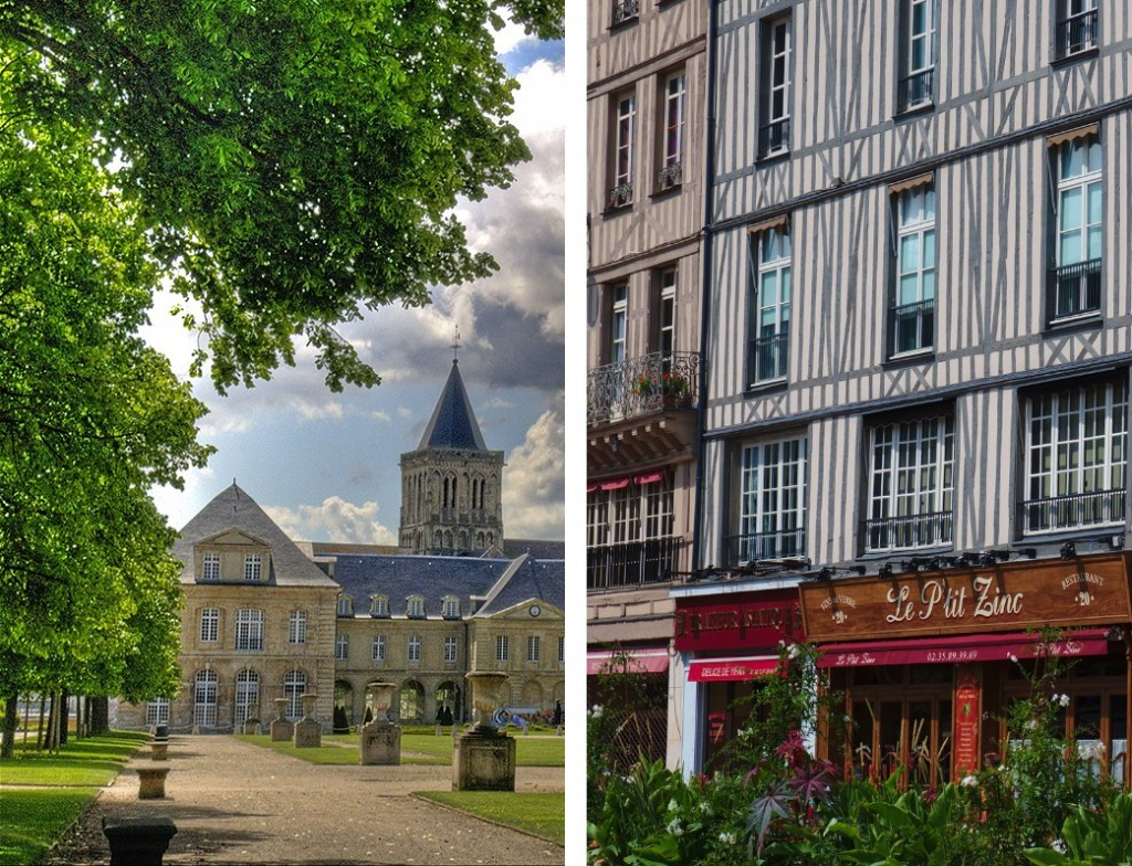 Caen et Rouen