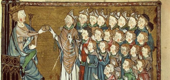 Le roi Louis X le Hutin octroie la Charte aux Normands en 1314. Jusqu'à la Révolution, ce texte sera l'étendard brandi par les Normands lors des conflits avec la royauté.