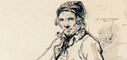 """Dessin d'Emile Bévat, d'un """"type normand"""""""