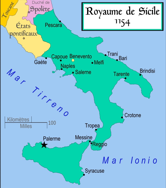 carte du royaume de Sicile