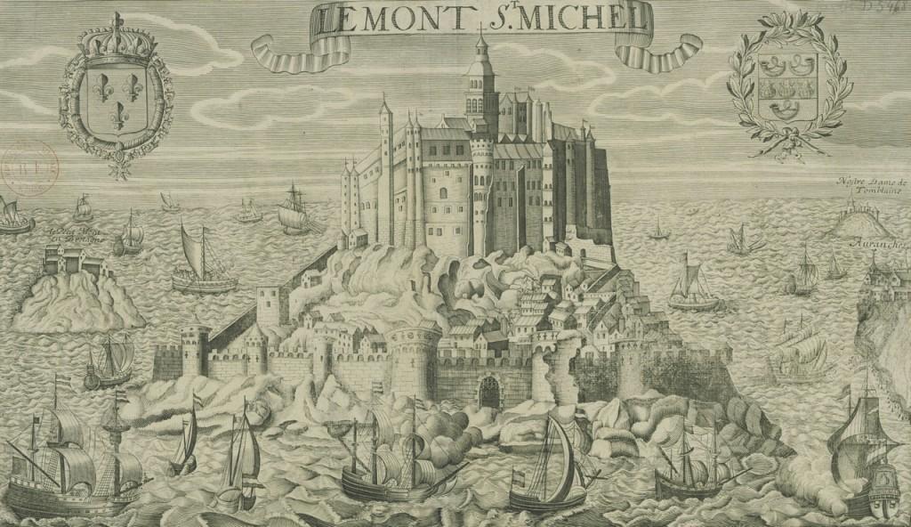 Représentation gravée du Mont-Saint-Michel