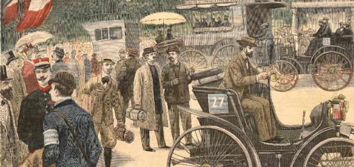 Couverture du Petit-Journal illustré. La course Paris-Rouen de 1894
